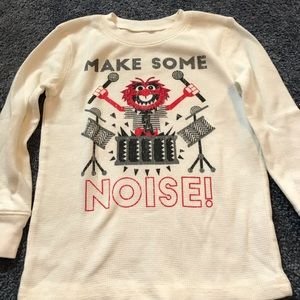 The Muppets Animal thermal tee size 4t